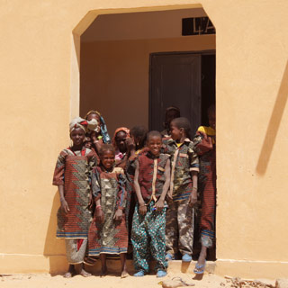 A group of students standing